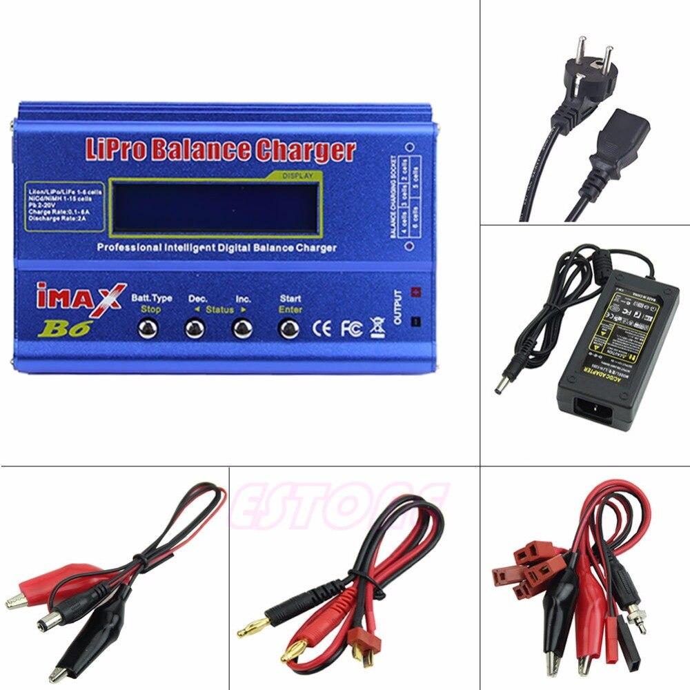 F98 EU enchufe para iMAX B6 AC Lipo NiMh Li-ion ni-cd cargador de balance de batería RC descargador