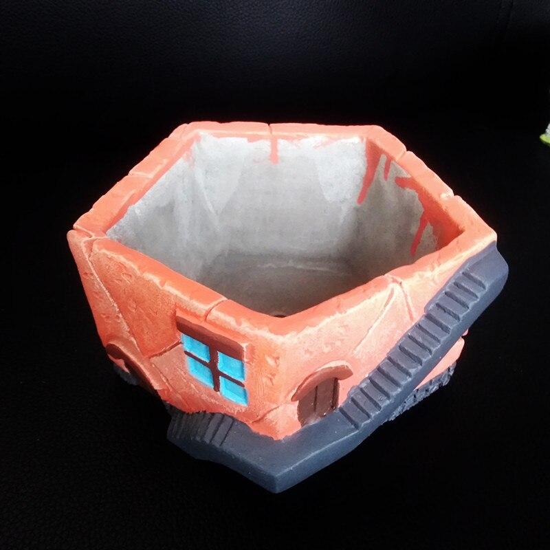 Casa Grande, molde para maceta de arcilla para maceta, para hacer macetas, decoración de jardín, molde maceta de cemento hecho a mano, molde de silicona para hormigón