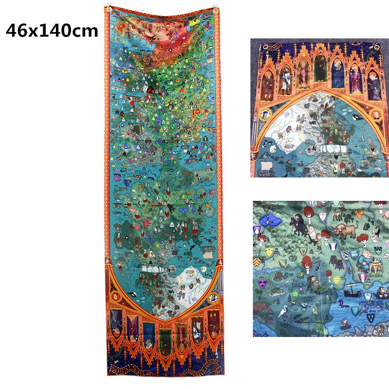 46x140cm Game of Thrones House Banner Stark Map Flag Wall KTV Bar Home Garden School Cosplay Party Gift Decor