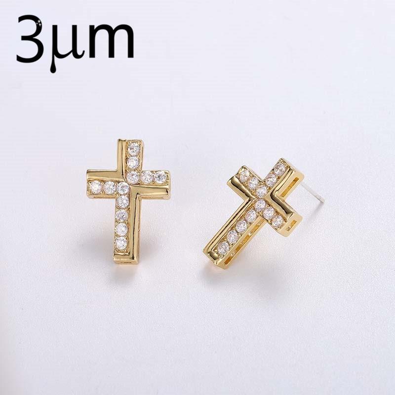 3UMFree Shipping Earring Cross Stud Earrings Charms Earring Acier Inoxydable Acrilic Jewelry  Earrings