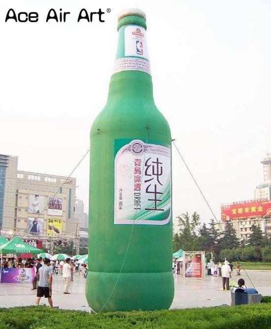 رائعة العملاق في الهواء الطلق الحدث الإعلان زجاجة بيرة قابلة للنفخ للحصول على أدوات لتزين الشارع المحرز في الصين