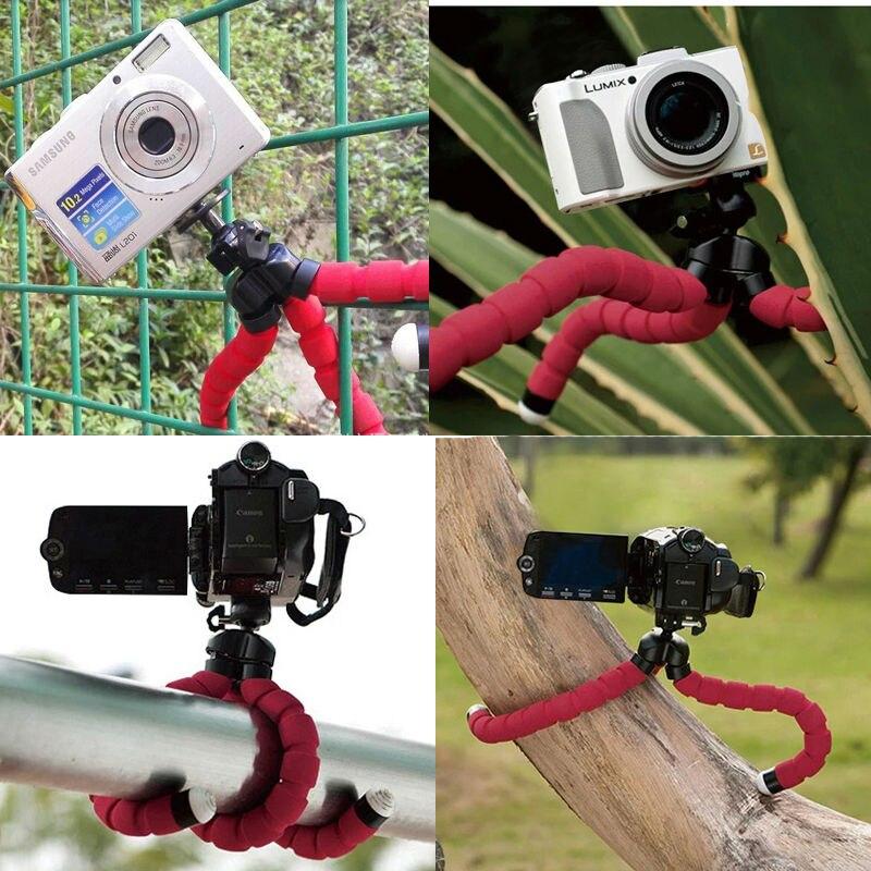 Мини Портативный Гибкий штатив-Осьминог с губкой, штатив с держателем для телефона, камеры Gopro, Трипод для Nikon d3300 d3200 DSLR