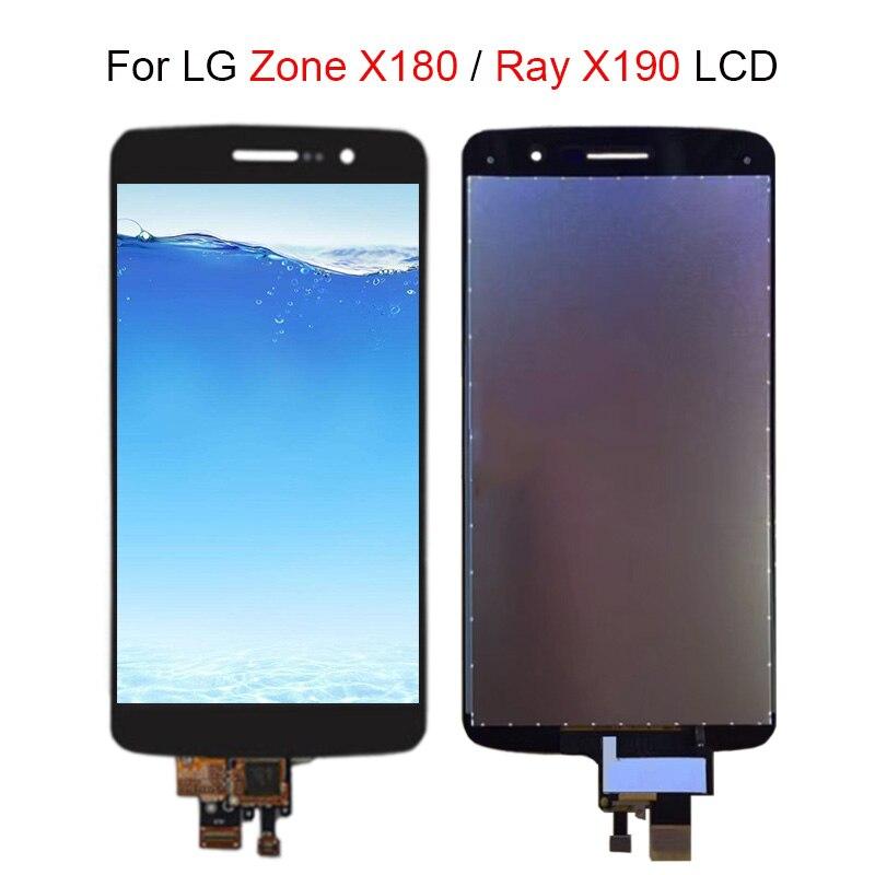Prueba de 100% para LG Zone X180 para Ray X190 pantalla LCD + MONTAJE DE digitalizador con pantalla táctil LCD para LG X180 X190 piezas de repuesto