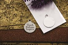 10 pièces-breloques en acier inoxydable, cadeau pour la journée de lenseignant, cadeau pour lenseignant, série 2, breloques pour collier/bracelet/porte-clés, bijoux à faire soi-même