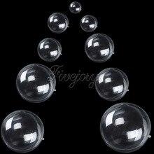 Boîtes à bonbons en plastique Transparent 5 pièces/lot   Décor en boules remplissables, décoration pour arbre de noël et mariage