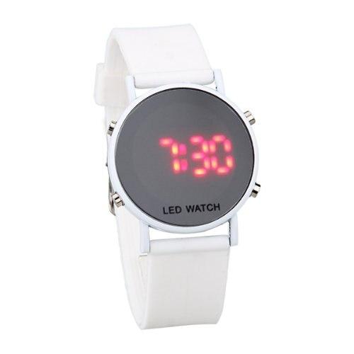 ¡YCYS! Reloj LED de silicona para mujer, reloj deportivo, pulsera, Correa blanca