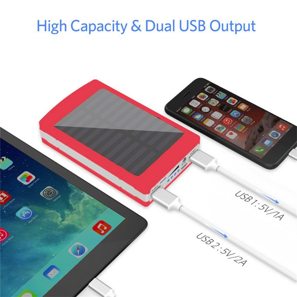 Diy 18650 banco de potencia de la caja de la batería LED Solar portátil banco de energía con USB doble 5x18650 cargador de batería externa caja DIY envío de la gota