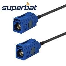Superbat Fakra C bleu/5005 femelle Jack à femelle queue de cochon voiture bateau RV camion GPS antenne câble dextension RG174 1M personnalisable