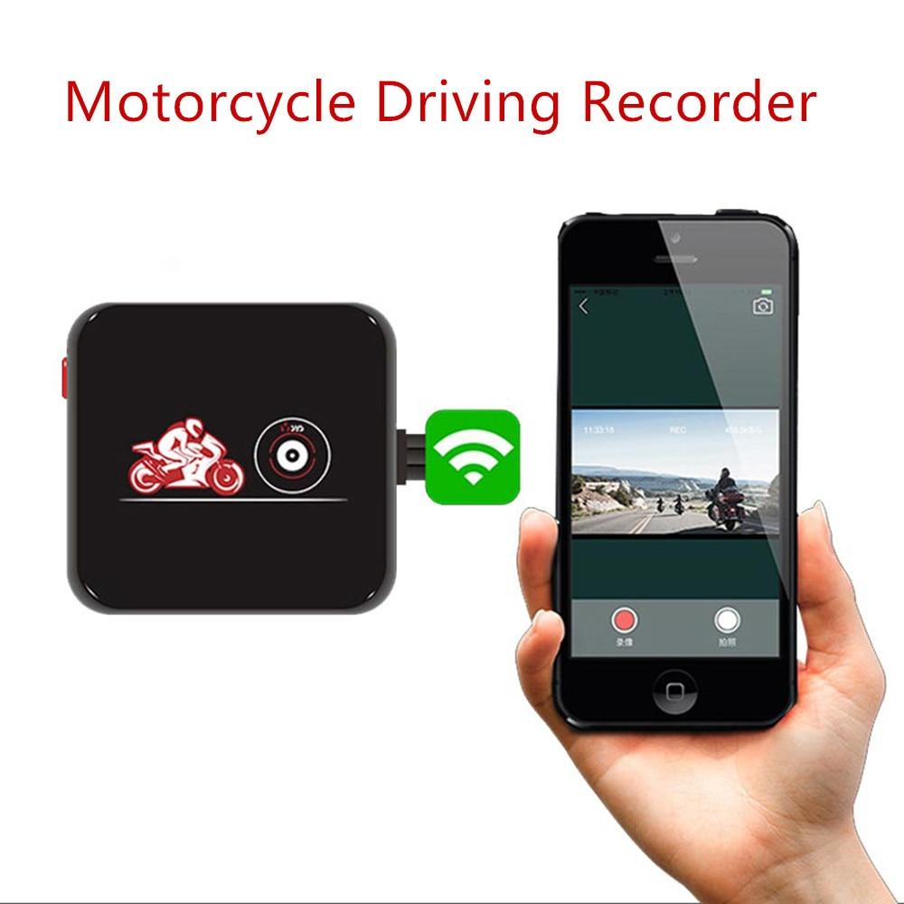 Grabadora de motocicleta, Auto WiFi, lente Dual de alta definición, impermeable, Mini-cámara sin pantalla