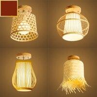 Chinese retro pastoral rattan bamboo art ceiling lamp aisle corridor light club porch bamboo ceiling lamp ZP4231607