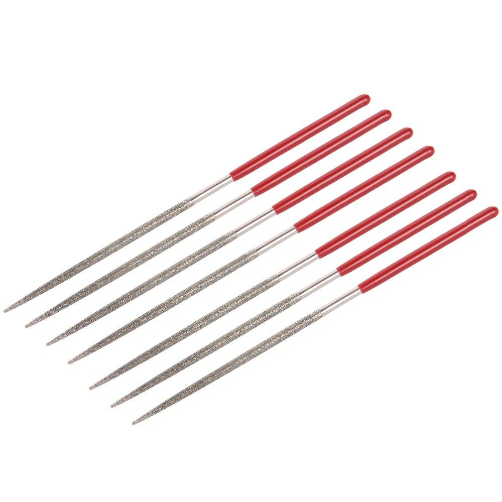 UXCELL más nuevo 7 Uds 150 grano 2mm x 100 diamante redondo mm Lima de aguja