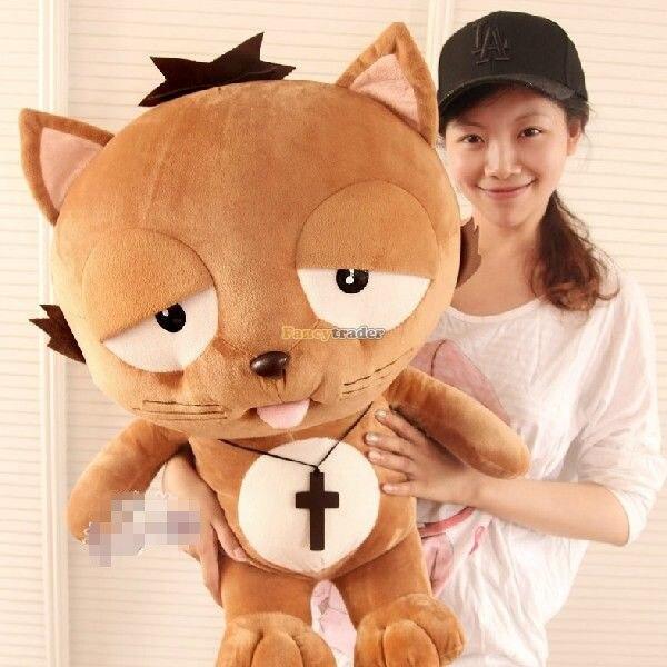 Fancyالتاجر-صابون تلفزيون كوري عملاق 90 سنتيمتر ، قطيفة أنيمي ، لعبة قطة Dinga ، هدية لطيفة لصديقته ، شحن مجاني FT50250