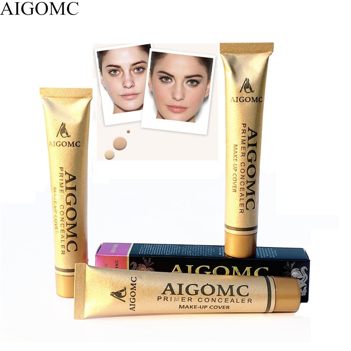 Brand gold tube Face Base Liquid Foundation Makeup Full Coverage Concealer Whitening Primer BB Cream