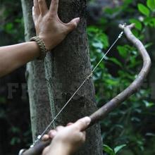 Sprzęt ratowniczy EDC ze stali nierdzewnej piła z drutu stalowego na zewnątrz praktyczne Camping piesze wycieczki instrukcja ręczna stalowa lina piła łańcuchowa narzędzia do przetrwania