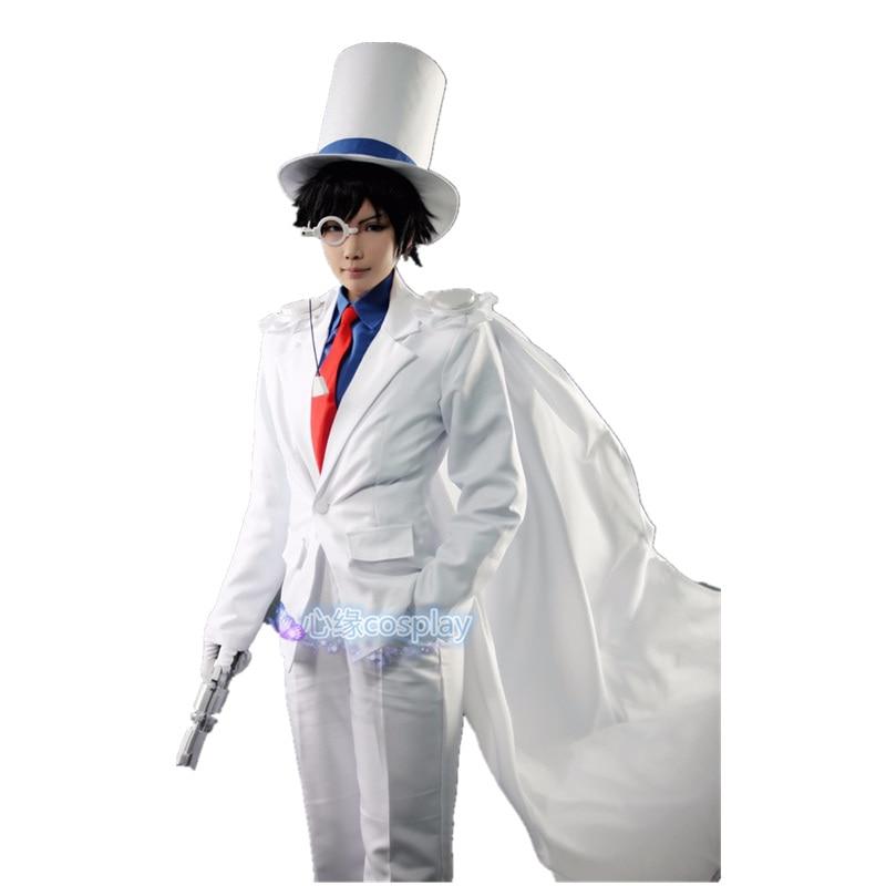 DETEKTIV CONAN Magie Kaito Kid das Phantom Dieb Uniformen Cosplay Kostüm 7/lot