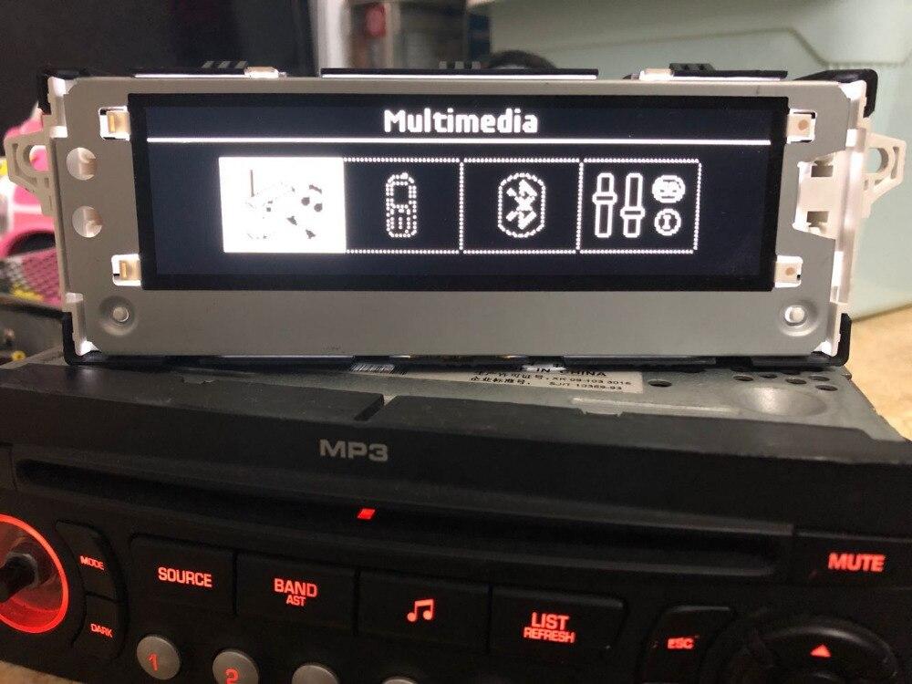 Suporte de ar condicionado original, monitor de tela branca com 6 pinos, usb, francês, para peugeot 301 2008 citroen 4/l