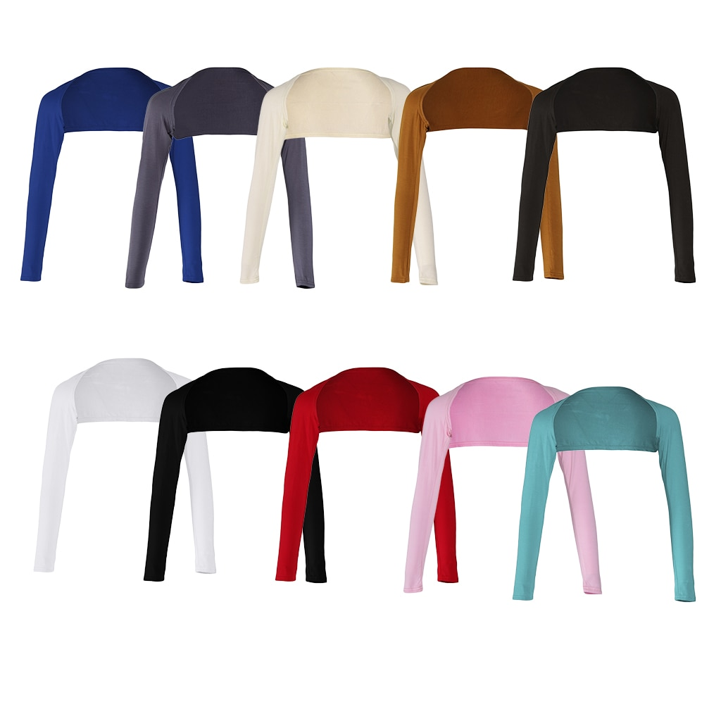Fashion Women's Soft One Piece Long Sleeved Elastic Modal Arm Warm Cover Shrug   Hijab Tops Muslim Clothes