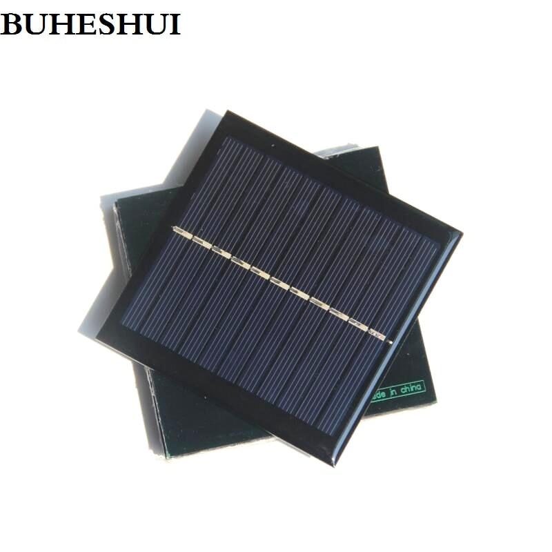 BUHUESHUI بالجملة! 100 قطعة/الوحدة البسيطة الخلايا الشمسية 1 واط 5.5 V الألواح الشمسية الشمسية وحدة الكريستالات الخلايا الشمسية لوحة 95*95*3 مللي متر