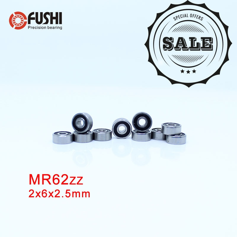 MR62RS Deep groove ball bearing  2*6*2.5 mm ( 10 PCS ) Miniature bearing R-620 W52 MR62-2RS MR62 RS MR62 2RS