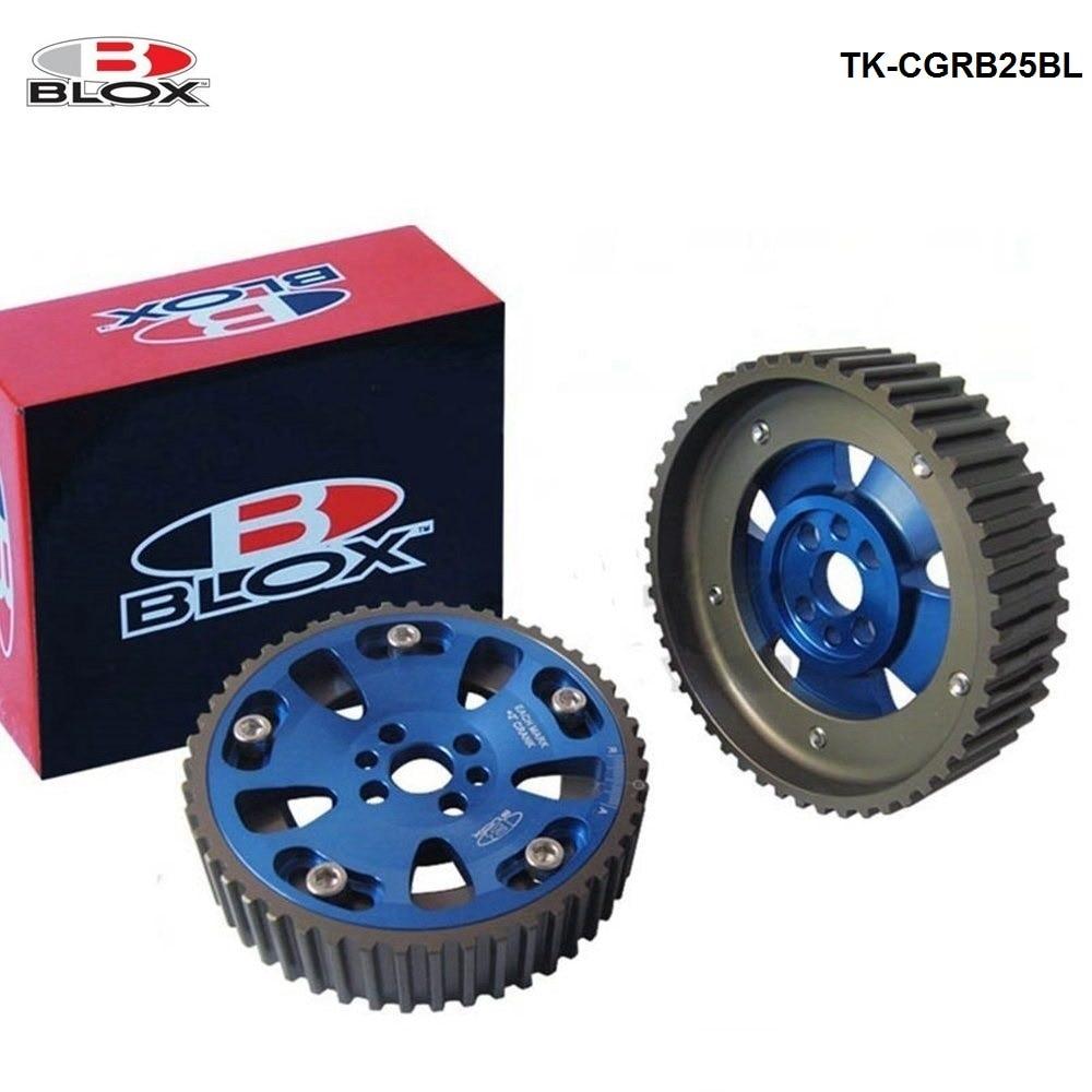 Para nissan skyline gtr rb20det rb25det rb26det 89-02 ajustável cam engrenagem roda dentada liga engrenagem sincronismo azul blox TK-CGRB25BL