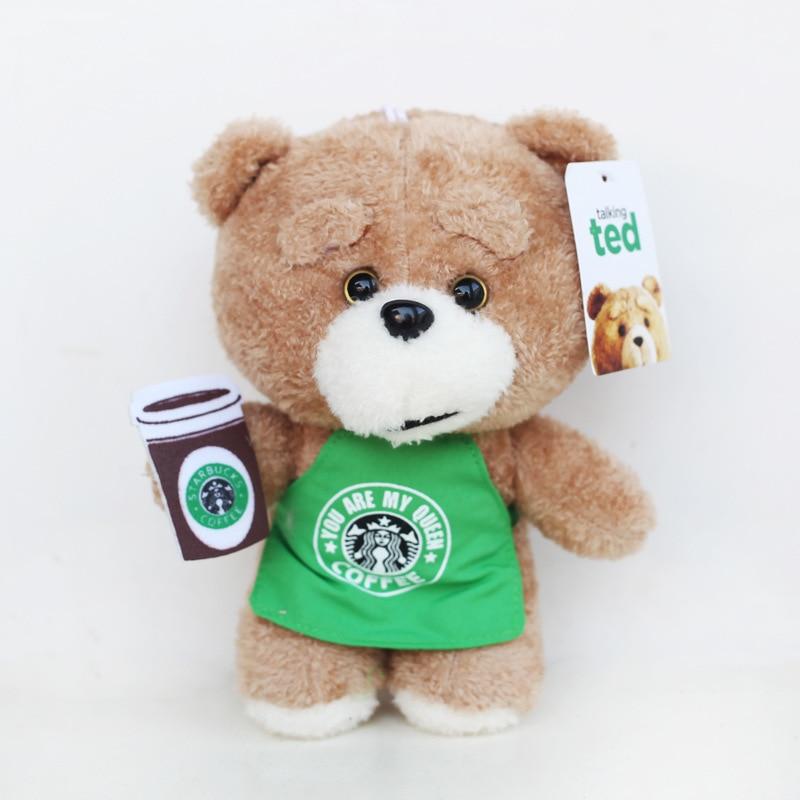 20cm Movie Teddy Bear Ted 2 Plush Toys In Apron Teddy Bear Cosplay Plush Soft Stuffed Animals Toys Doll for Children Kids Gift