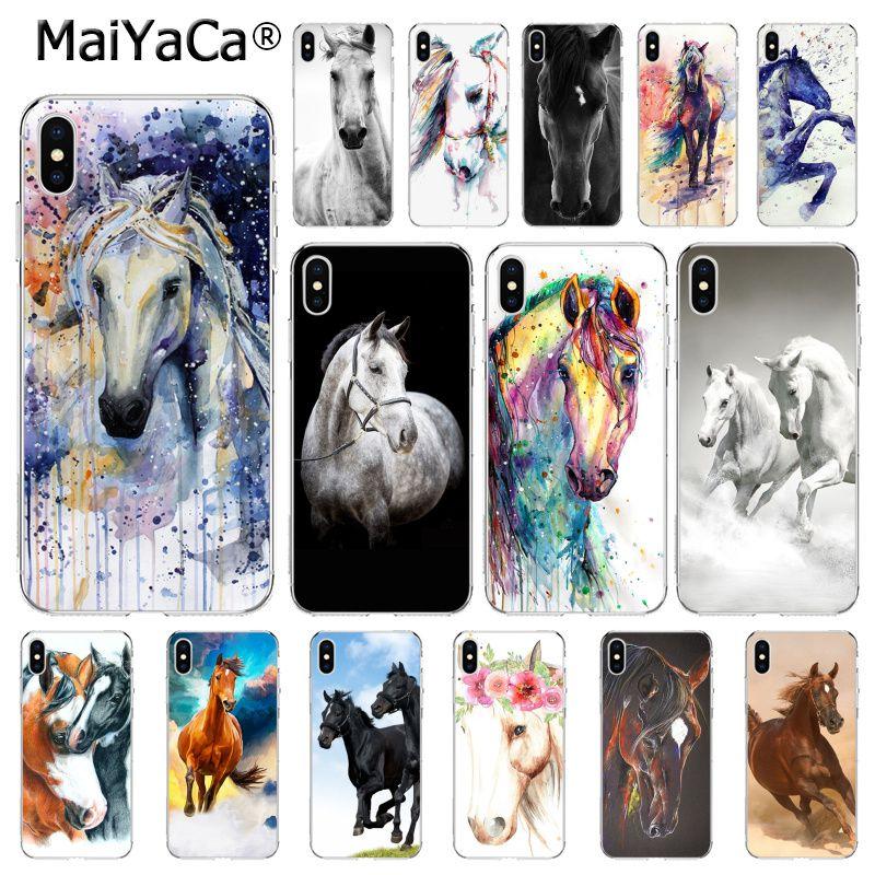 MaiYaCa caballos corriendo funda para teléfono para iphone 11 Pro 11Pro MAX X XS X MAX 6 6s 7 7plus 8 8Plus 5 5S SE XR 10