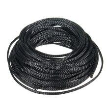 Trwała, rozszerzalna, pleciona ochrona kabla PET, tuleja ochronna, tuleja Audio, 10 M, 4mm, do węża rurowego, okablowanie wewnętrzne Mayitr