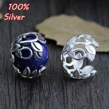 925 argent Sterling couleur Bracelet collier fleur perles bouchon entretoise pour bijoux à bricoler soi-même faire des résultats perle Bracelets accessoires