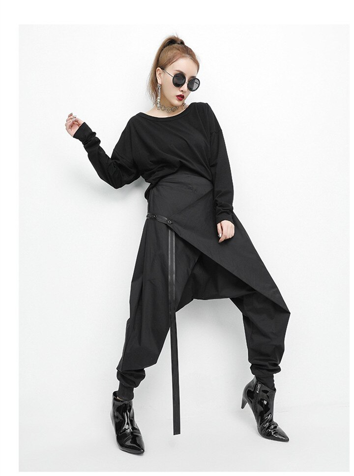 ¡Gran oferta! Pantalones de chándal Vadim medio suelto para mujer, envío gratis, cinturón de primavera 2020, cinta de cintura elástica, informal con personalidad