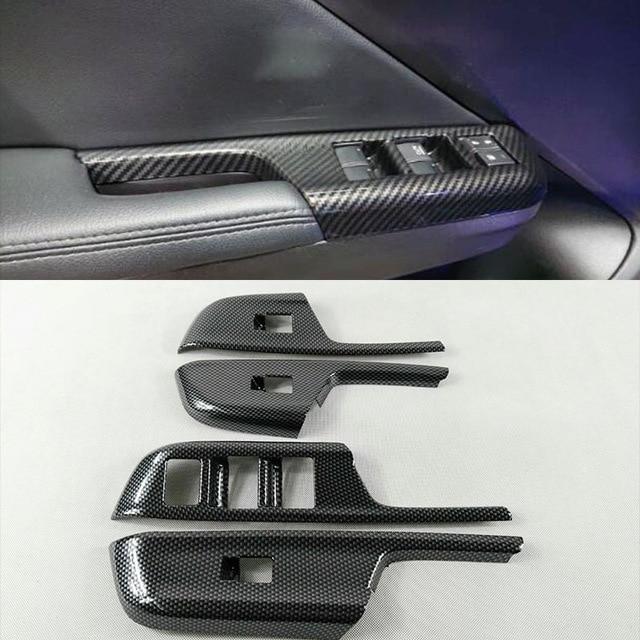Para a Cidade de Honda Sedan 2014 2015 2016 acessórios Estilo do carro ABS Porta Cromo Tampa Do Painel De Controle Interruptor de Elevador de vidro de Janela guarnição