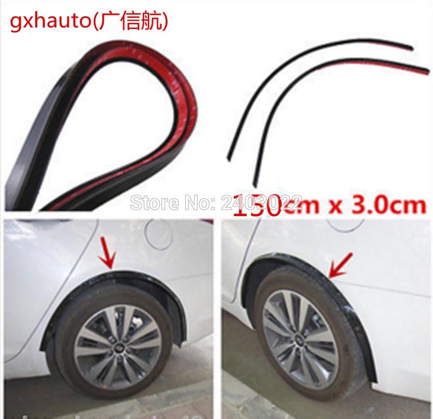 Rueda suave protector de cejas rueda 150CM (un conjunto) tira de moldura de arco para Renault Clio 4 3 2 1 sport