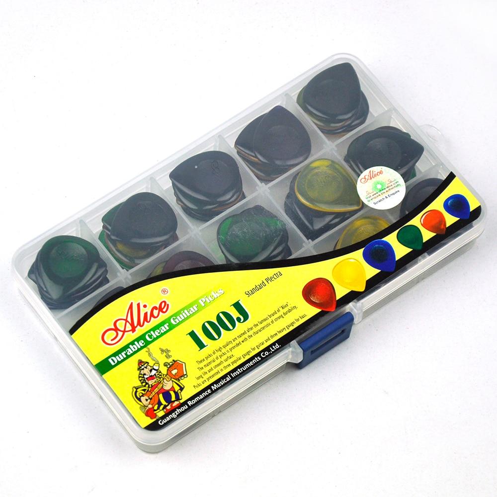 100pcs/lot 3mm Clear Water Drop Picks 25mm x 30mm for Guitar Bass Mixed Colors w/ PVC Box enlarge