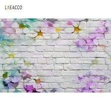 Arrière-plans en vinyle pour la photographie mur de briques motif de fleurs fête décor à la maison bébé Portrait photographie toile de fond pour séance Photo