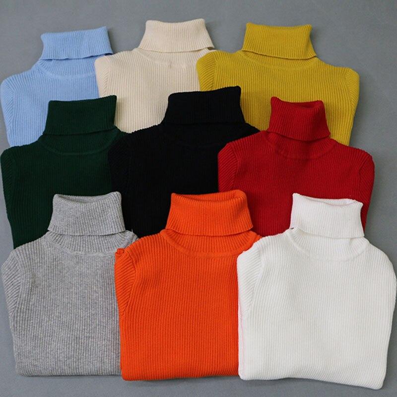 Jersey de cuello alto con diseño familiar para madre e hija, suéter informal para la familia
