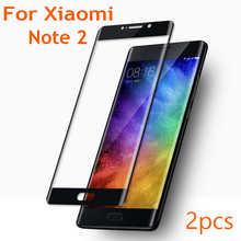 2 шт. полное покрытие 9H 3D закаленное стекло с изогнутыми краями для Xiomi Xiaomi Mi Note2 Note 2 Защитная пленка для экрана с защитой от синего излучения