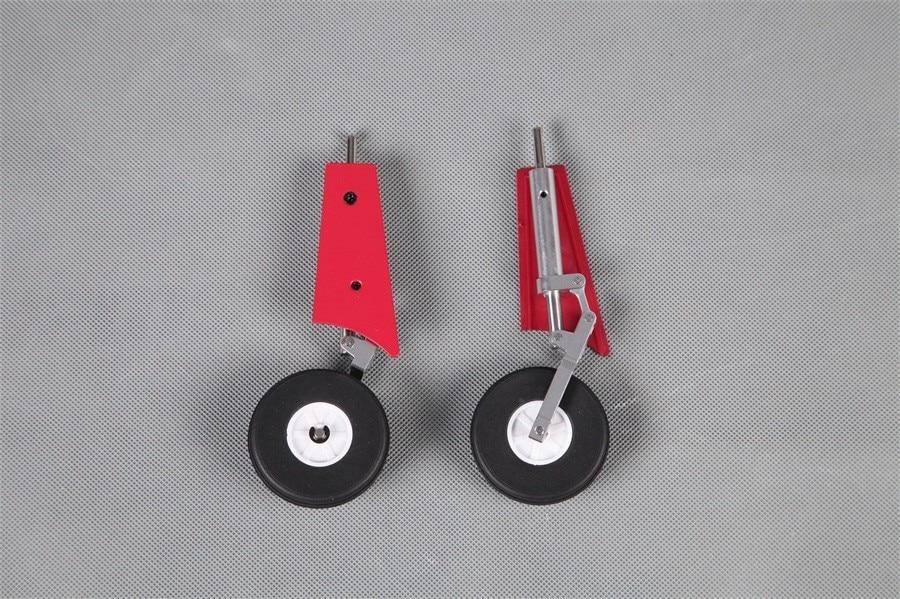 FMS 80mm ventilador ductado EDF Jet Futura V1 tren de aterrizaje principal rojo/morado FMSPW113 avión modelo Avión RC piezas de Repuesto de avión