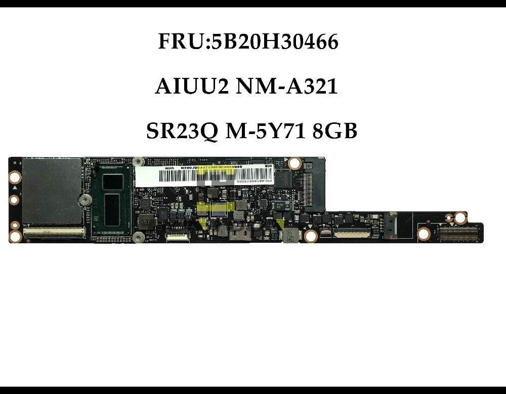 Alta calidad FRU 5B20H30466 para Lenovo Yoga 3 Pro 1370 Laptop placa base AIUU2 NM-A321 SR26Q M-5Y71 8GB RAM 100% totalmente probado