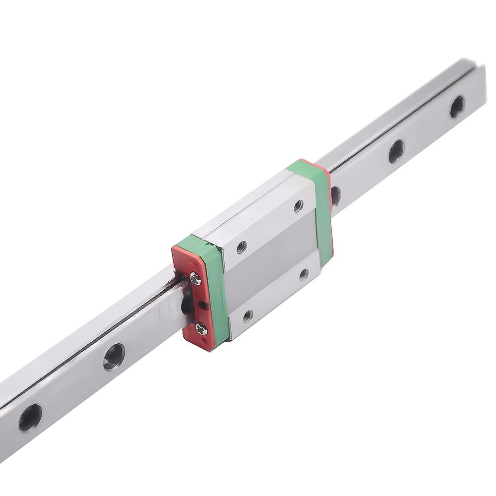 Piezas de impresora 3D cnc Kossel Mini MGN7 7mm carril lineal miniatura Diapositiva 1pc MGN7 guía de carril lineal + 1 Uds MGN7 H carro