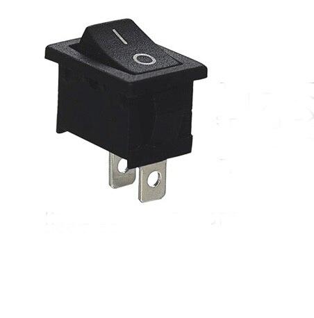 Novo 10 pçs/lote 2 pinos 12 v 110 v 250 v preto snap-in conectores de ligar/desligar carro barco interruptor de balancim