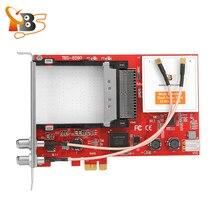 TBS6590 متعددة القياسية المزدوج موالف المزدوج CI PCI-e بطاقة دعم DVB-S2/S ، DVB-T2/T ، DVB-C2/C ، DVB-S2X و ISDB-T