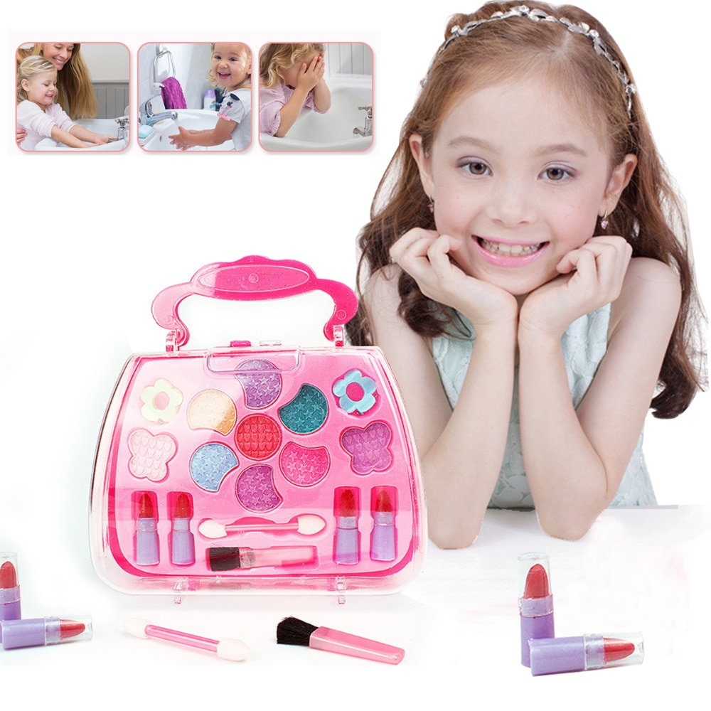 Juego de maquillaje para niña, juego de tocador de simulación de princesa para niñas, juego de tocador para fiestas, presentación, regalos para niñas