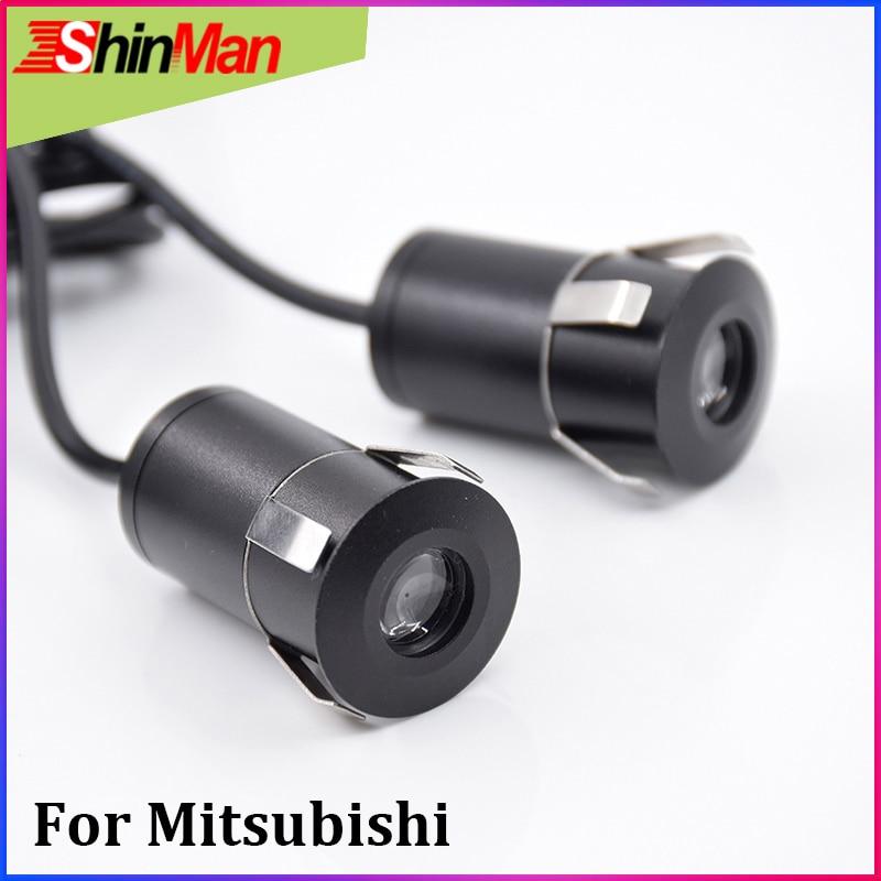 ShinMan, luz LED de advertencia para puerta de coche, sombra de fantasma, luz láser de logo para Mitsubishi ASX Outlander Pajero Lancer l200 galant