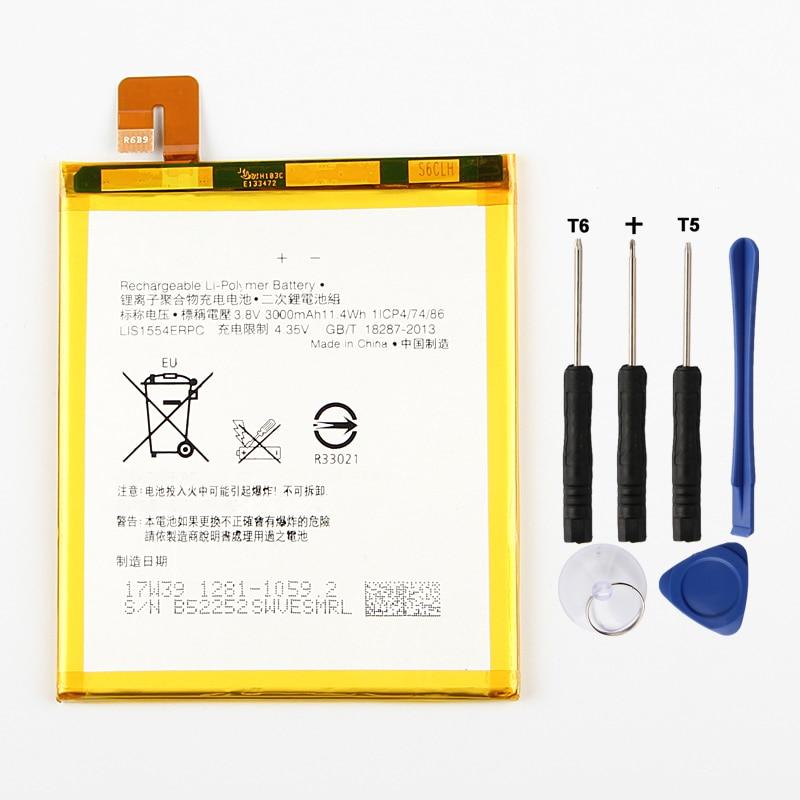 Batterie de remplacement dorigine agared LIS1554ERPC pour Sony Xperia T2 Ultra double D5322 D5316 XM50H XM50T D5303 batterie 3000mAh