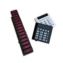 1 transmisor de teclado 15 posavasos buscapersonas inalámbrico invitado paginador Sistema de colas buscapersonas restaurante sistema de llamadas K-TP15