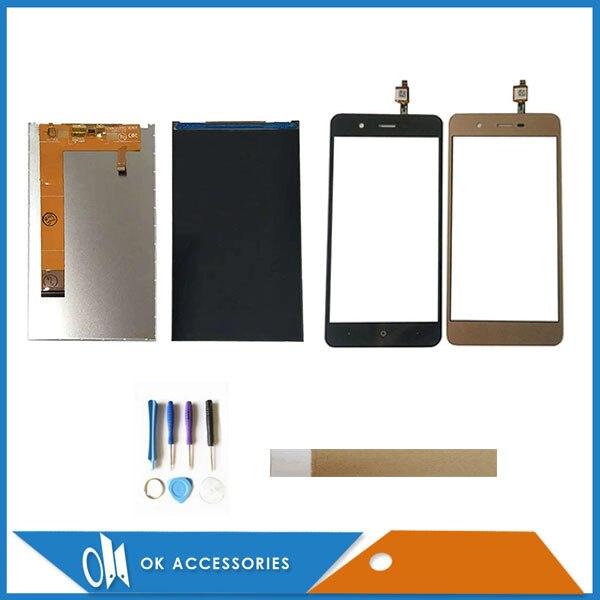 Oro Negro para BQ BQ-5044 BQS-5044 BQ 5044 BQS 5044 LCD separado Display + Touch panel de cristal para pantalla táctil con herramientas cinta