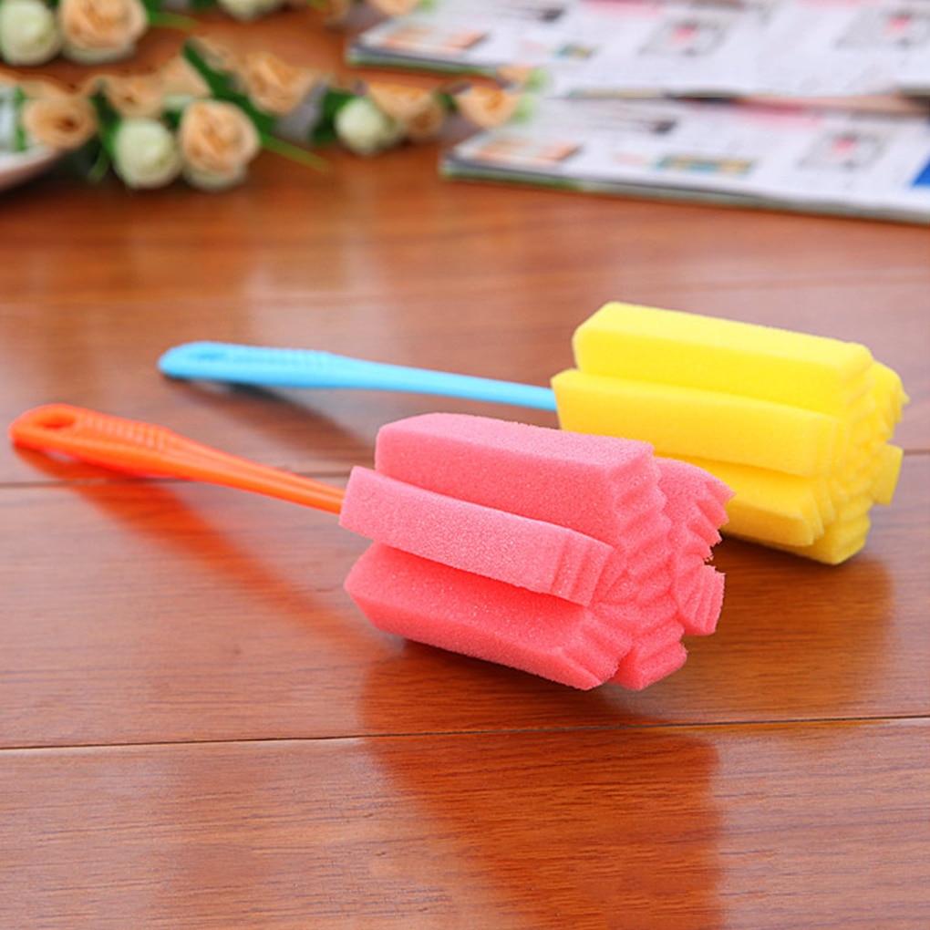 2 uds. Accesorios para biberones, esponja de PP para biberón, biberón, cepillo de esponja para limpieza de pezones, limpiador para tazas, herramienta de alimentación
