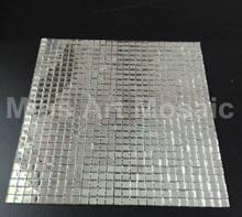 Carreaux de cuisine en verre miroir argent uni   Carreaux en mosaïque de verre, backsplash décoration de bar KTV