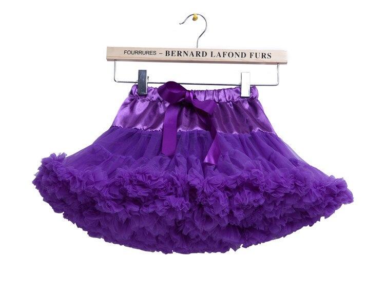 Las niñas niño Fluffy tutu de Ballet de danza falda vestido de princesa fiesta enagua púrpura para niñas 1-15 años