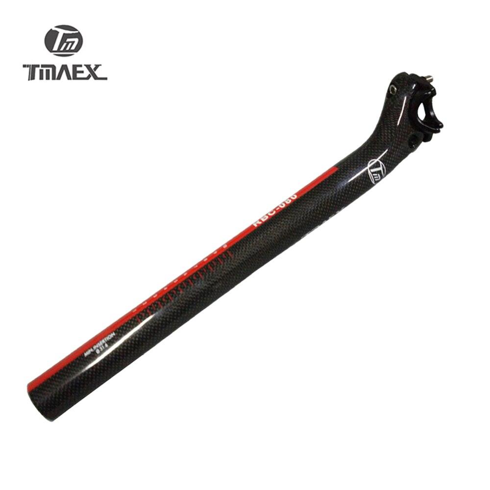 TMAEX- Carbon Seat Post 27.2/30.8/31.6*350/400mm Carbon Bicycle  Parts Mtb/Bike Seat Post Road Backward Drift Carbon Seat Post