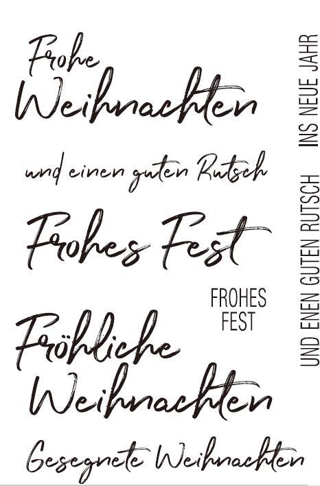 Sello/sello de silicona transparente alemán para Scrapbooking DIY/álbum hojas de sello transparentes decorativas A1302